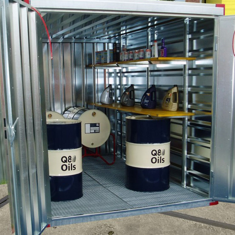 Milieu opslag container