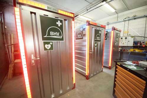 EHBO BHV Container Calimiteiten Box Evenementen Bouw